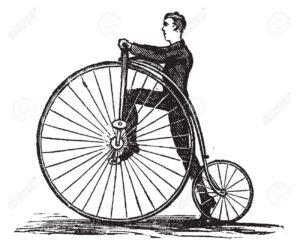bicicleta antigua rueda alta