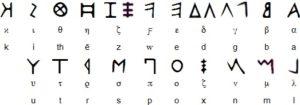 letras antiguas griegas