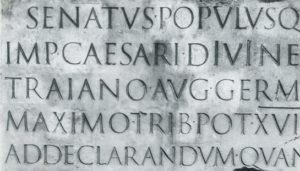 letras antiguas romanas