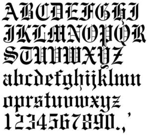 letras antiguas goticas