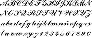 letras antiguas manuscritas