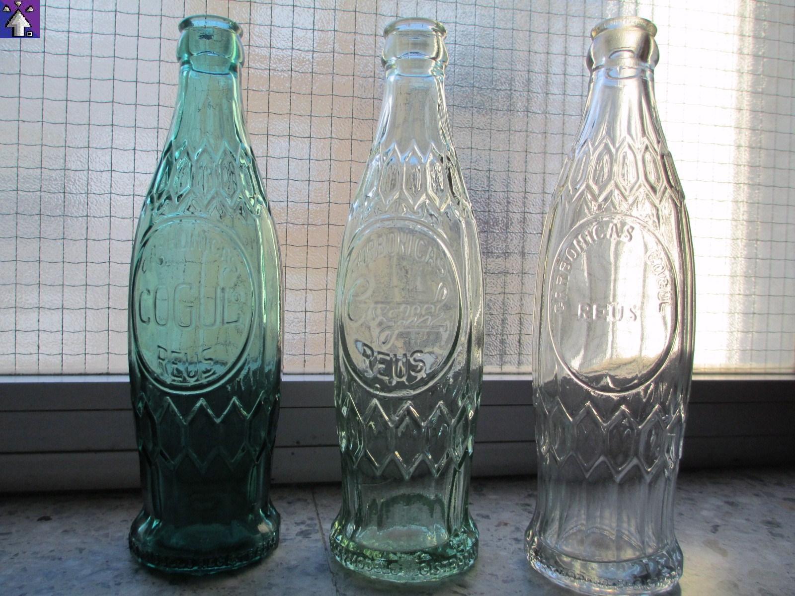 botellas antiguas de cristal