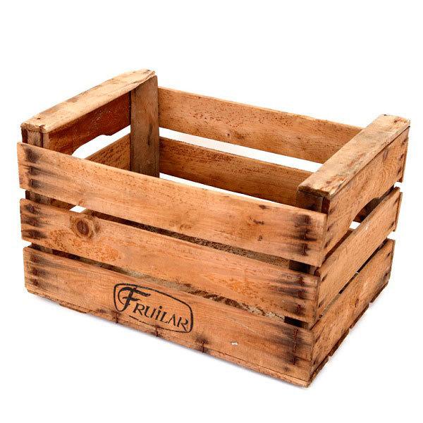 cajas de madera antigua de frutas