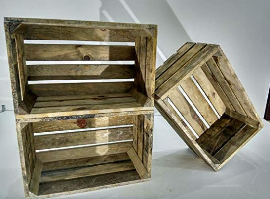 cajas de madera antiguas de fruta