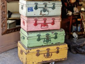 maletas antiguas decoradas