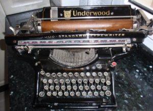 maquinas de escribir antiguas underwood