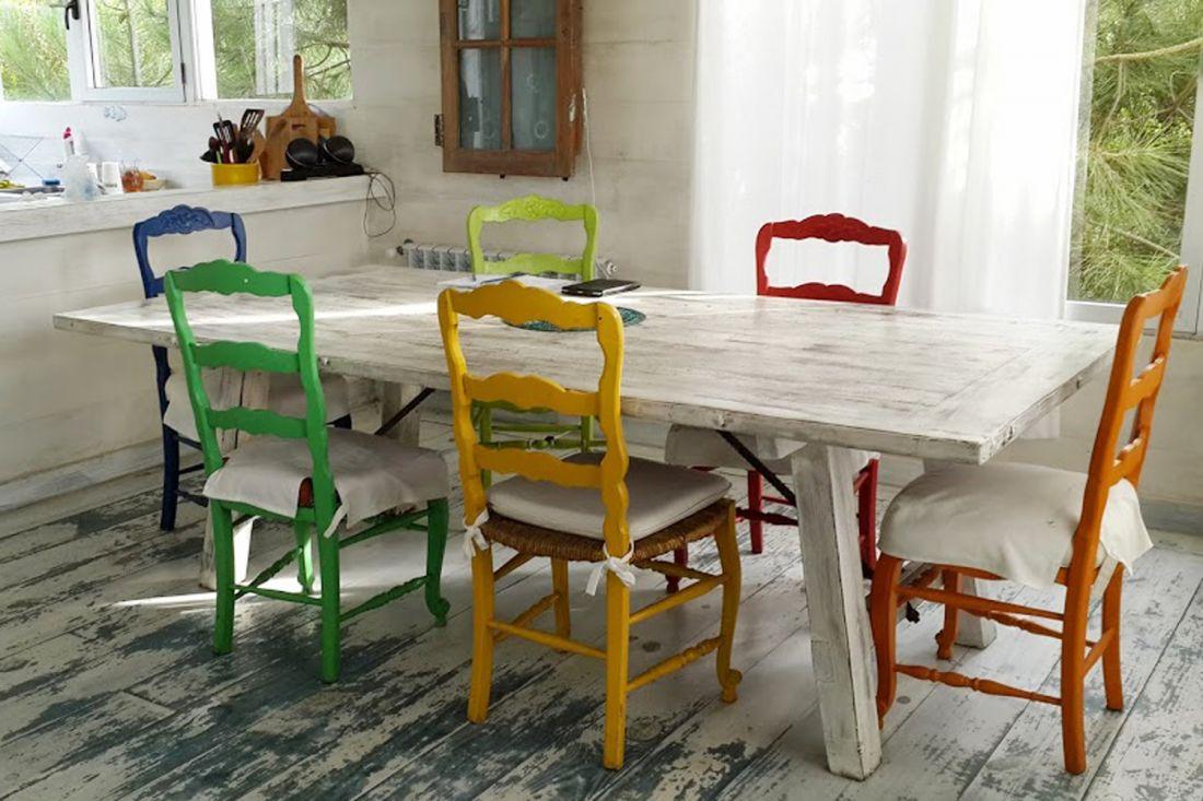 mesas antiguas pintadas