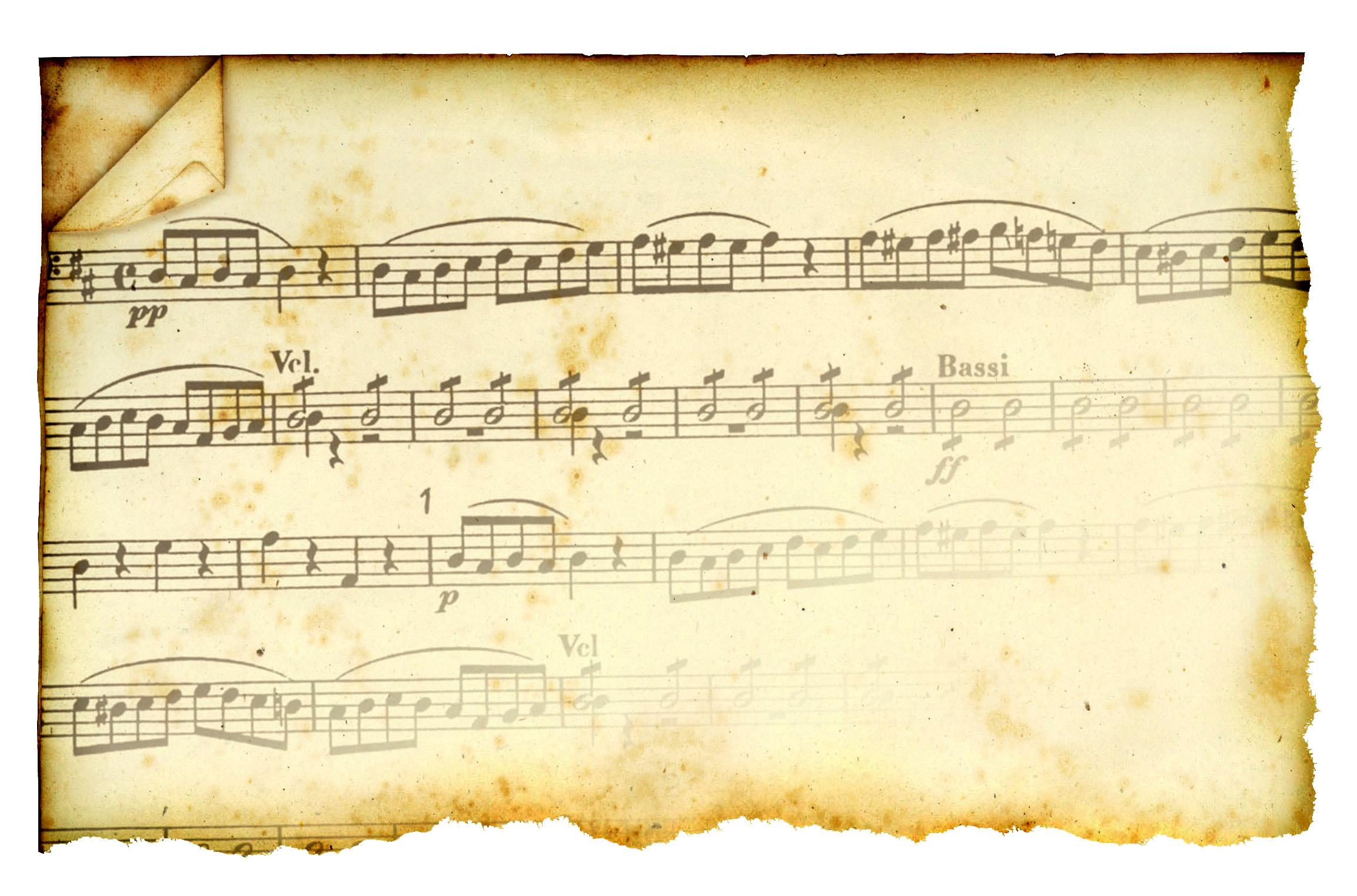 partituras antiguas historia