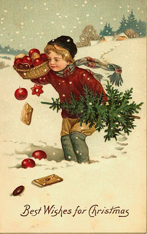 postales antiguas navideñas